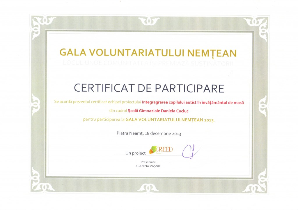 Gala Voluntarului Nemtean